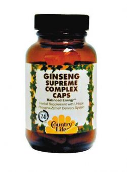 Энергетик Country Life Ginseng Supreme Complex 60 капсул