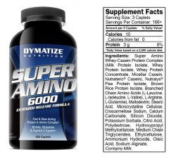 Аминокислоты Dymatize Nutrition Super Amino (Супер Амино) 6000 500 таблеток