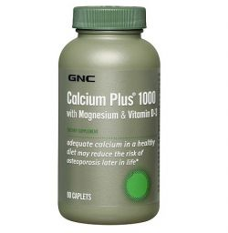 Витамины и минералы GNC Calcium Plus 1000 with Magnesium & Vitamin D-3 90 капсул