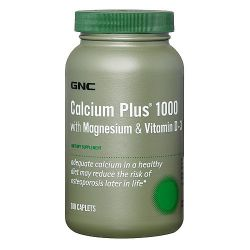 Витамины и минералы GNC Calcium Plus 1000 with Magnesium & Vitamin D-3 180 капсул