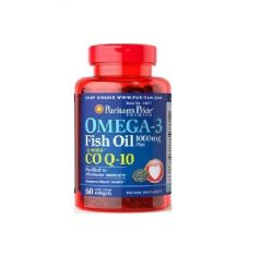 "Puritan""s Omega-3 Fish Oil 1000 mg plus Co Q-10 30 мг 60 кап"
